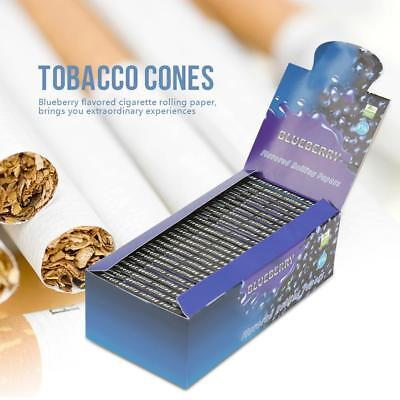 50 Booklets/Box Blueberry Flavored Cigarette Tobacco Smoking Rolling Papers gift