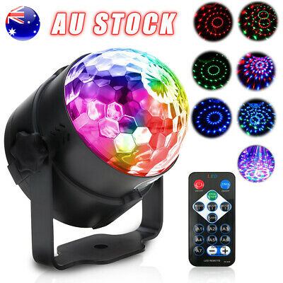 AU RGB LED remote Disco Home Party Crystal Magic Ball Stage Effect Light Lamp