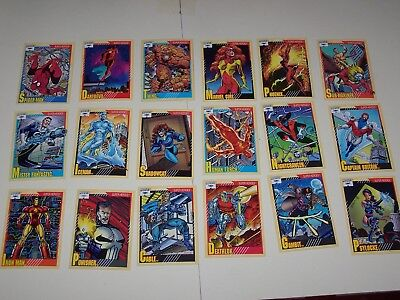 1991 Marvel Universe Series II Card Set 1-162