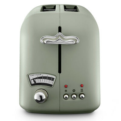 NEW DeLonghi Argento Flora Two Slice Toaster Green
