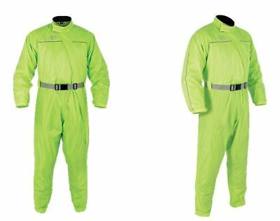 Oxford Rain Seal Half Lined Over Suit Fluo For Motorcycle Motorbike