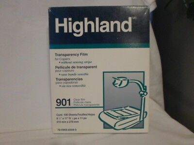 Highland Transparency Film for Plain Paper Copiers Unknwon Sheets 901