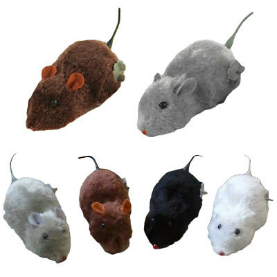 Wireless Wind up Clockwork Rat Mouse Mice Toy For Cat Pet Play Fun Training