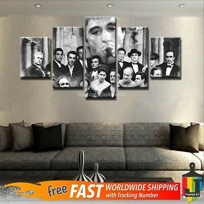 Gangsters Scarface Al Pacino Painting Picture Poster Canvas Wall Art Home Decor