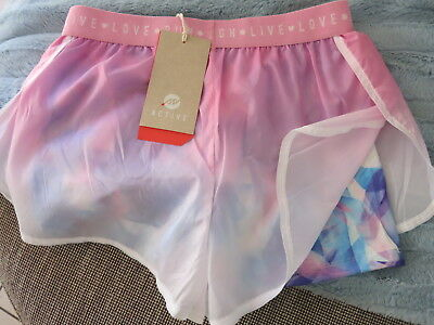 TARGET NEW Active Shorts Size 12 Pink Blue Bike BUY 4 or more items 4 FREE POST