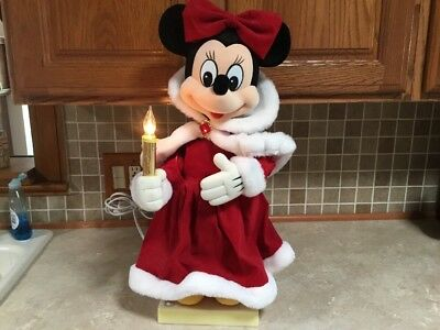 "Telco Disney 22 "" Minnie Mouse Winter Wonderland Animated Christmas Motion Music"
