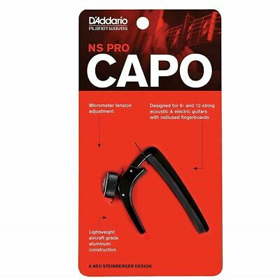 D'addario Planet Waves NS PRO  Guitar Capo in Black PW-CP-02
