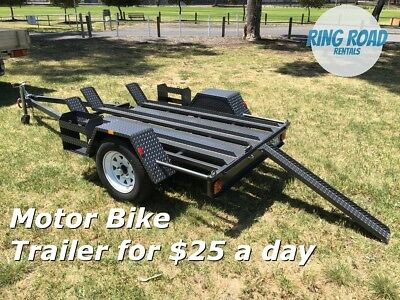 MOTOR BIKE TRAILER HIRE FOR ONLY $25.00 A DAY - Heaps of trailers for rent !!!