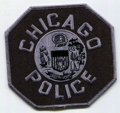 Chicago Illinois Police Subdued Tactical Patch // FREE US Shipping! (SWAT)
