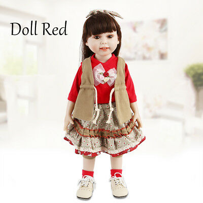 "18""/45cm Girl Baby Doll Dressing Vinyl Toy Dolls Girl Birthday Gift High Quality"