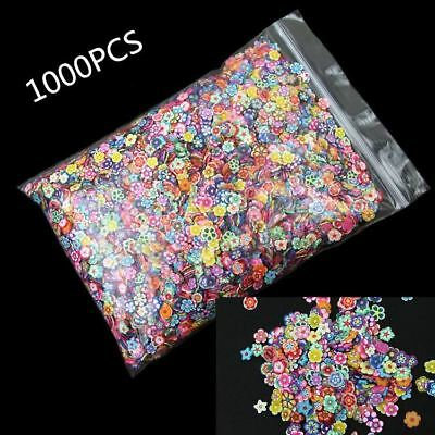 1000Pcs Mixed Flower Clay Beads Decoration Crafts Flatback Cabochon Scrapbooking