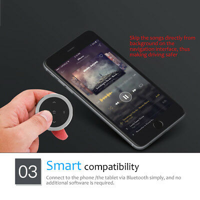 Car Bluetooth Media Audio Music Steering Wheel Remote Control Button for iPhone
