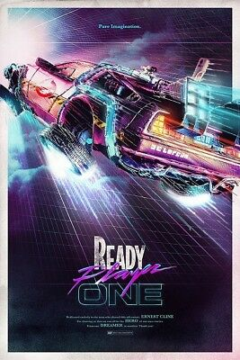 Ready Player One Concept Art Film Poster Photograph Glossy