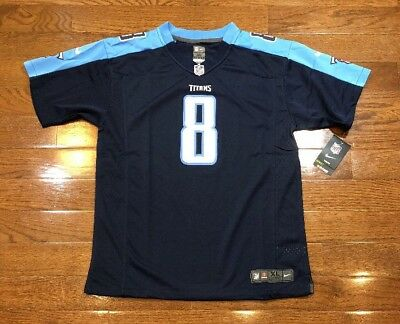new concept e5527 717c0 YOUTH XL MARCUS Mariota Nike On Field Jersey Tennessee Titans NFL