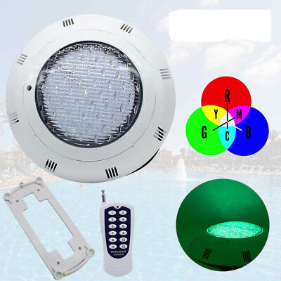 12V 45W Underwater RGB LED Disco Light Swimming Pool Tub Spa Lamp 7 Colours +RF