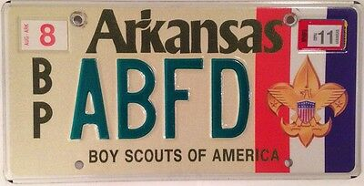 Arkansas BOY SCOUT OF AMERICA license plate Scouts Scouting Baden Powell BSA