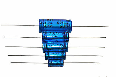 Bipolar Capacitor Alcap 50v 1uf to 470uf Sold In Pairs Speaker Xover Caps HiFi