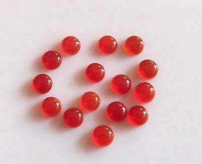 15 Pcs Great Lot Natural RED ONYX 4x4 mm Round Cabochon Loose Gemstone