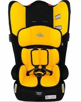 The Wiggles InfaSecure  Rally II Convertible Car Booster Seat YELLOW EMMA 0-8yrs