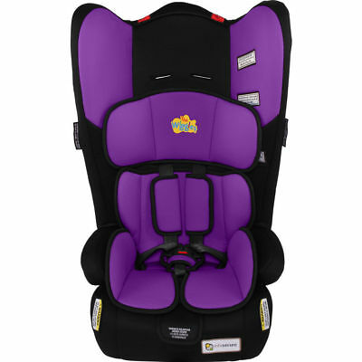 The Wiggles InfaSecure  Rally II Convertible Car Booster Seat PURPLE LACHY 0-8yr