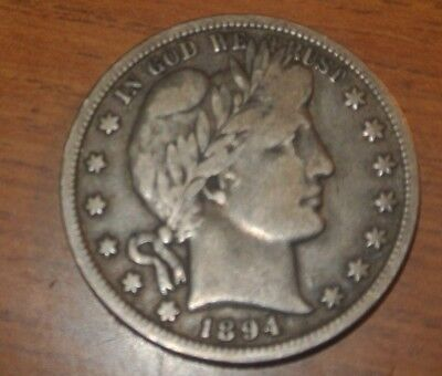 1894 O Barber Half Dollar Nice Vf No Problem Coin
