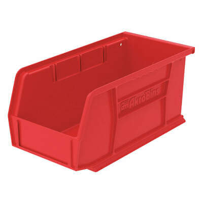 AK Industrial Grade Polymer Hang/Stack Bin,10-7/8 x 5-1/2 x 5,Red, 30230RED, Red