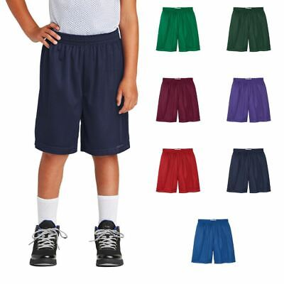 Youth Classic Mesh Shorts Physical Education Gym PE Workout Running Short YST510