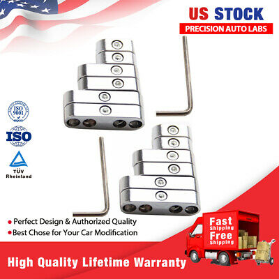 7//8//8.8//9mm Chrome Spark Plug Wire Separators Dividers Looms For Chevy Ford US