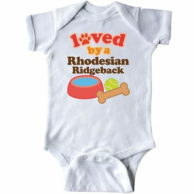 Inktastic Rhodesian Ridgeback Loved By A (Dog Breed) Infant Creeper Dogs Pets