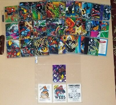 Complete base set 1992 Todd Mcfarlane Spiderman Marvel Trading Cards + prism