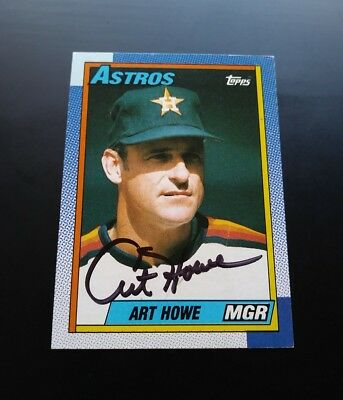 Art Howe Manager Houston Astros Signed Autograph #579 Topps 1990 Card MLB