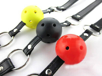 Black Strap Full Colours Breathable Ball gag Restraint Night Party Fancy Dress