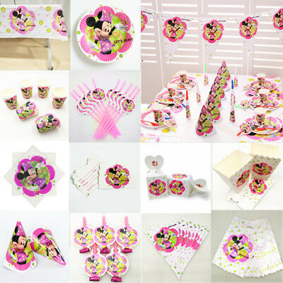 Kids Minnie Mouse Birthday Party Supplies Favor Tableware Decor Plates Balloons