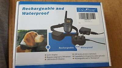 Rechargeable and waterproof dog training collar with remote