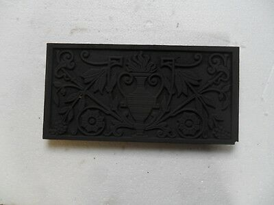 Original Cast Iron  ornate hood insert for antique fireplace