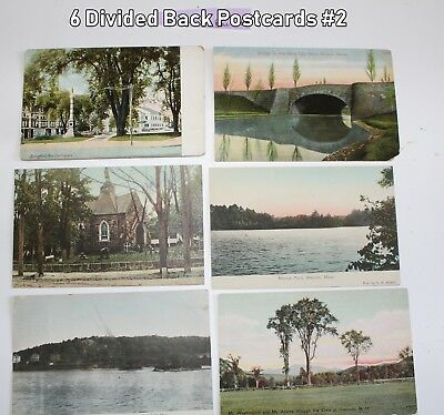 Lot of 6 Divided Back Postcards All Different  Lot #2