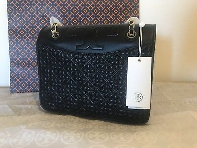 234804245d9 NWT TORY BURCH Bryant Quilted Convertible Shoulder Bag Leather Black ...
