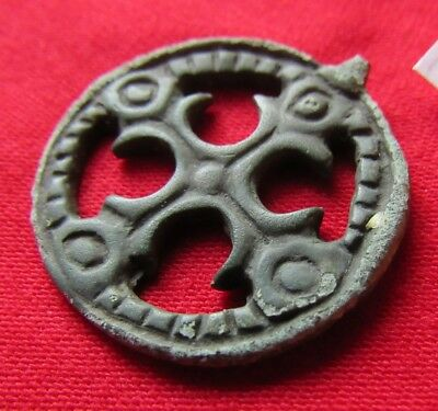 "Ancient bronze pendant ""Cross in circle"" Kievan Rus Vikings 9-12 century #320"