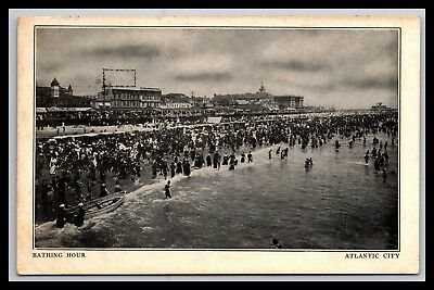 Old Atlantic City New Jersey Bathing Hour Postcard, Udb