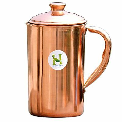 Pure Copper Water Jug 1.7 Liter Capacity | Copper Pitcher for Ayurveda Health...