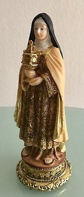 """St. Clare of Assisi 8"""" Inch Statue NEW  Catholic First Communicants Patron 535"""