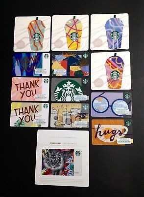 Starbucks Gift Card --- New -- Lot Of 13 Pcs. - For Collectible