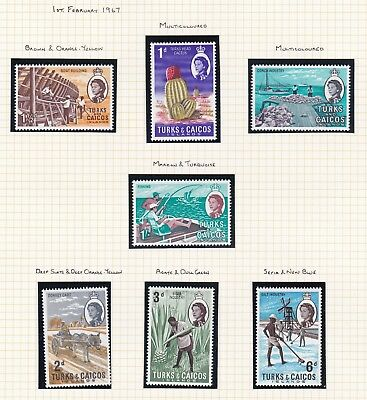 Commonwealth. Turks and Caicos Islands. TEN PAGES 1967-1971 issues. Mint. MNH
