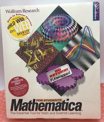 Microsoft Windows Mathematica for Students Wolfram Research - New Sealed