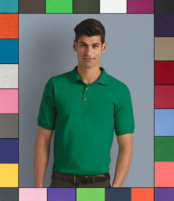 Gildan DryBlend Jersey Sport Shirt Plain Short Sleeve 6 oz. 50/50 Polo S-5XL