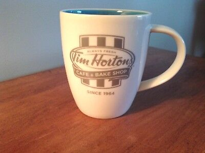 Tim Hortons Coffee Mug Cup Limited Edition Blue Inside