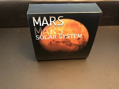 2017 Niue Mars Solar System 1oz Antique Finish with Meteorite NMA7379 Coin