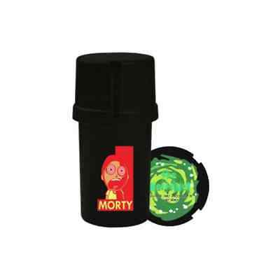 "The Medtainer Storage w/ Grinder ""Rick and Morty"" Morty / Black - 20 Dram"