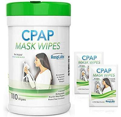CPAP Mask Cleaning Wipes - 110 Pack + Travel Wipe | Unscented CPAP Cleaner