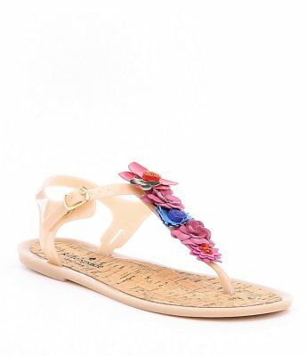 4a4842781c1 NIB Kate Spade New York Fatema Flower Butterfly Jelly Sandals Women s Size 8